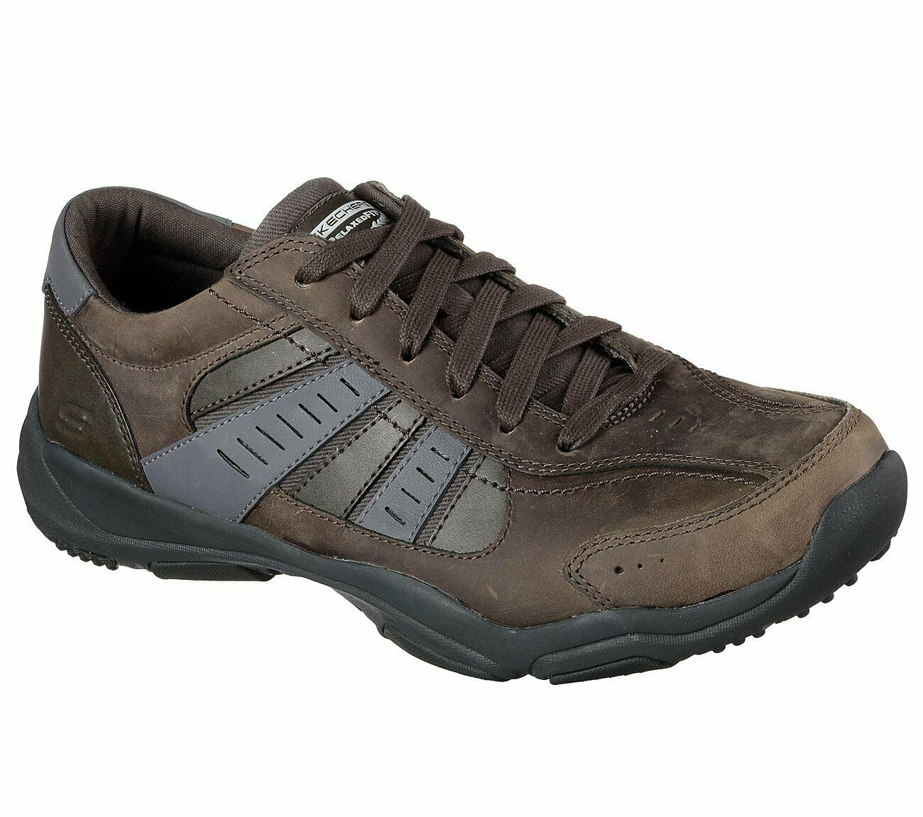Skechers Relaxed Fit-Larson nerick Chaussure-Charbon