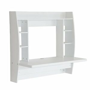 white vanity table hollywood makeup dressing floating wall
