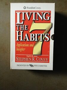 Living-the-Seven-Habits-by-Stephen-R-Covey-5-audio-cassettes-with-booklet