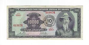 10 CRUZEIROS NOVOS Brésil 1967 c126/p.189c - Brazil billet