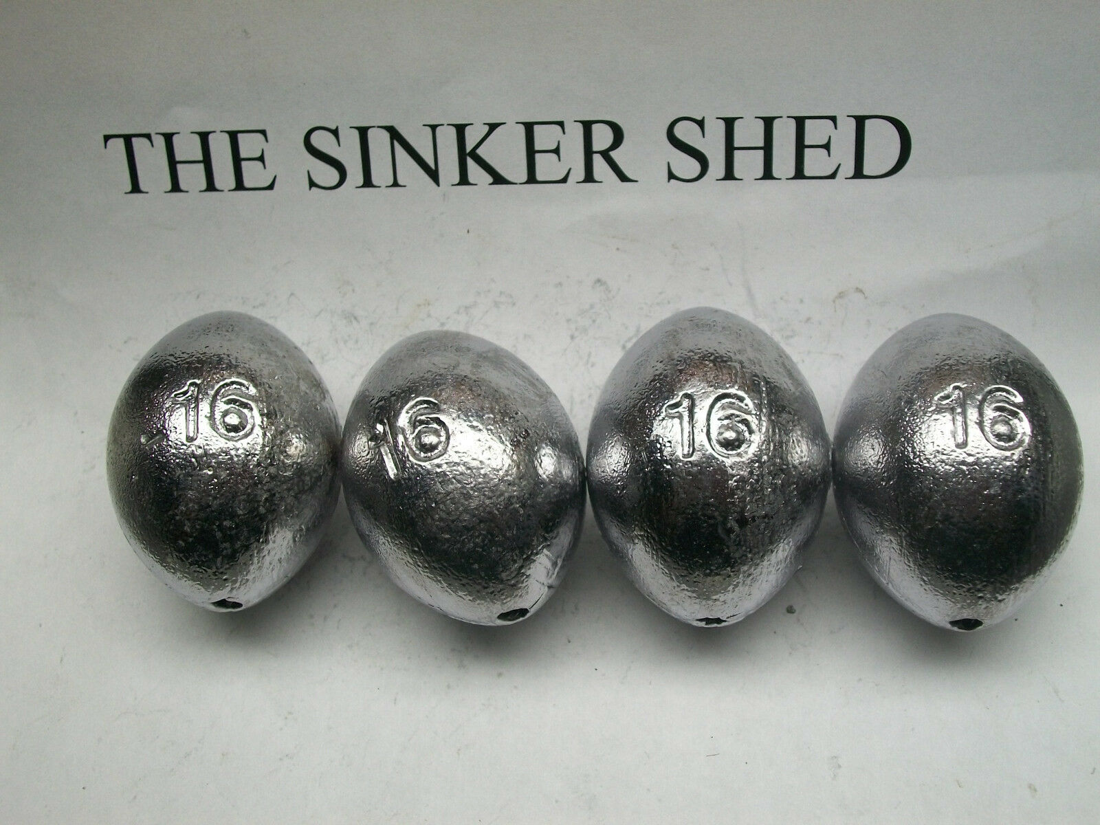 16 oz egg sinkers   decoy weights  - quantity of 6 12 25 50 62 - FREE SHIPPING