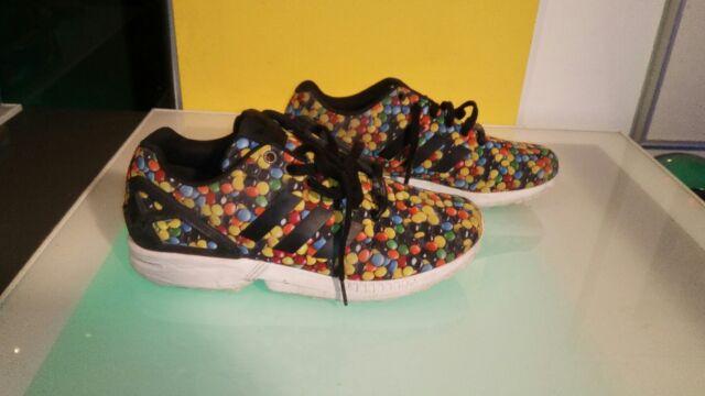 Adidas Torsion men's size 8 running shoes candy pattern M & M good shape