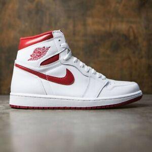 4aec24aa1fa 2017 Nike Air Jordan 1 Retro High OG White Metallic Red Size 8.5 ...