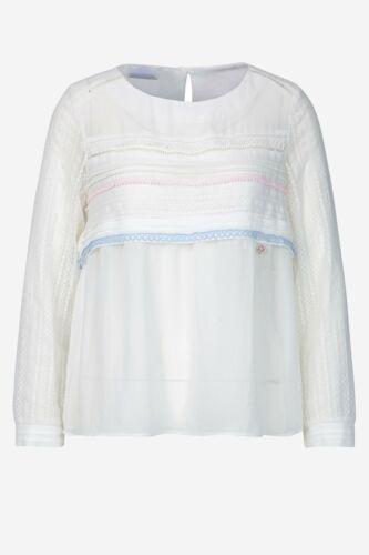 Sportalm-blusa señora leger stickerein punta semitransparent blanco nuevo 249 €