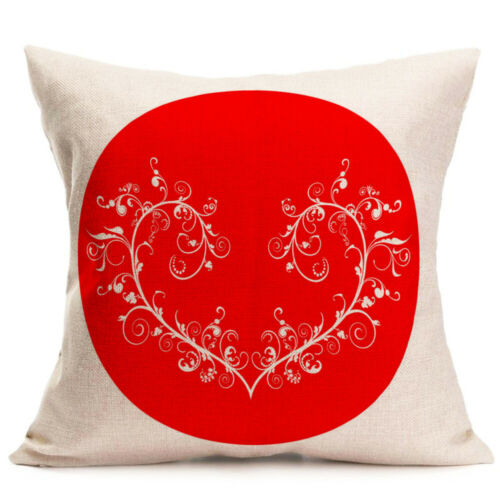 Pillow Case Valentine Day Decoration Cushion Cover Heart I LOVE YOU Home Decor