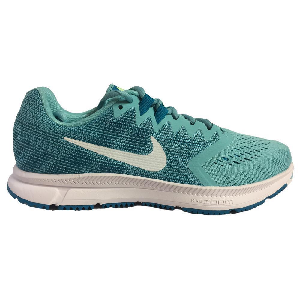 Mujeres Nike Zoom span 2 blanqueado Aqua Correr Zapatillas 909007 403