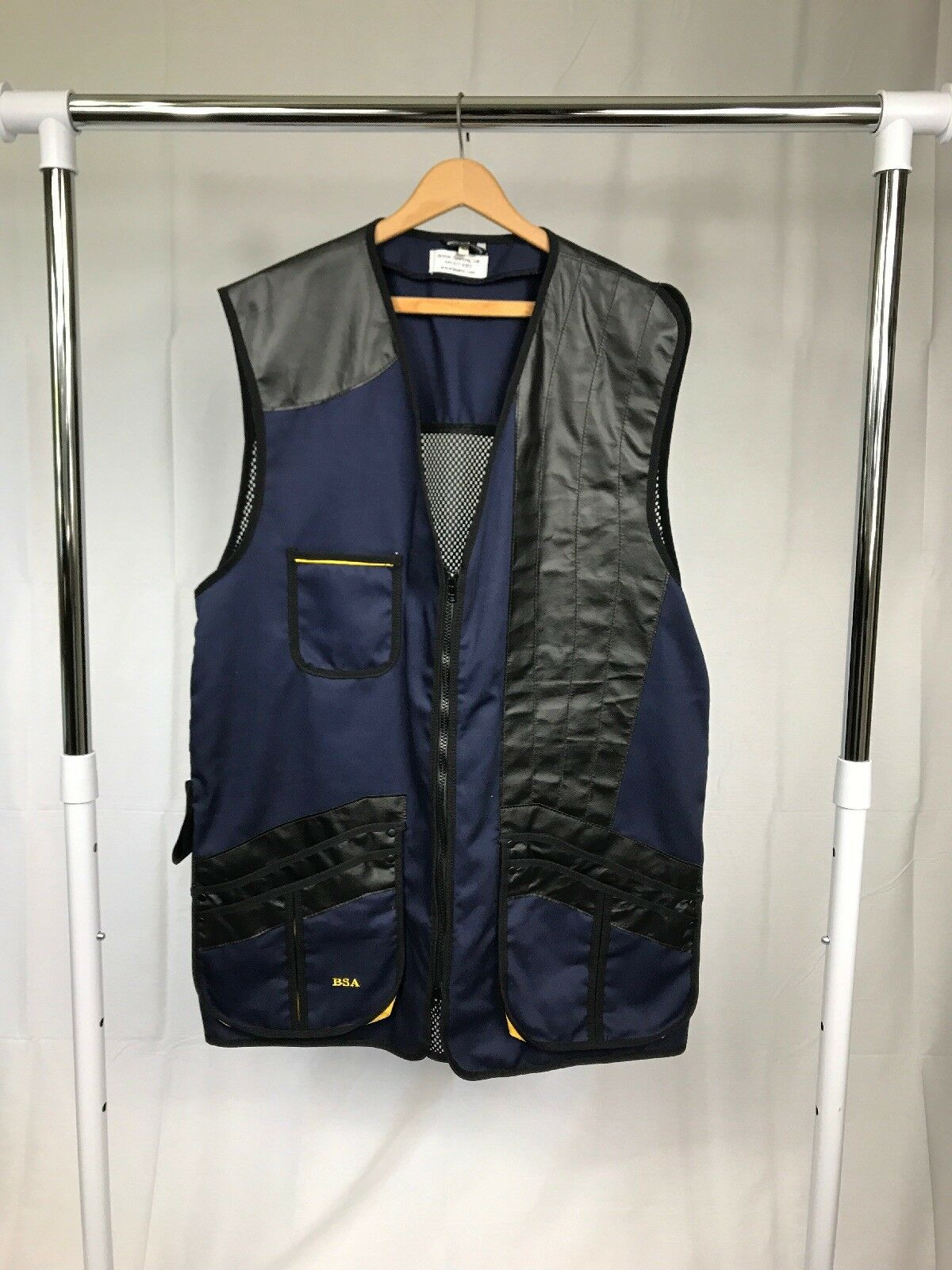 British Sporting Arms Mesh Shooting  Vest Made in England Men's 46 (XL) LH  save up to 70%