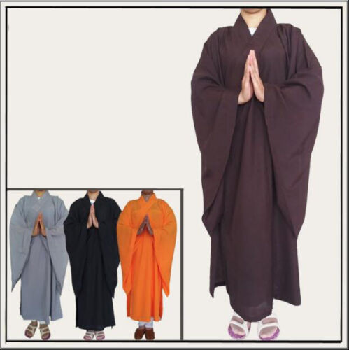 Buddhist Monk Shaolin Dress Meditation Haiqing Robe Kung Fu Suit Long Gown