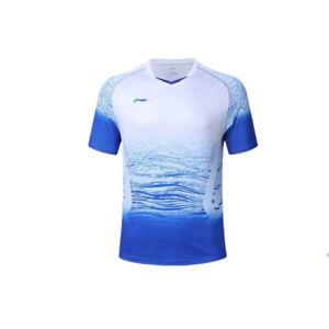 New-Li-Ning-Outdoor-sports-Tops-Table-tennis-clothing-men-039-s-badminton-T-shirt