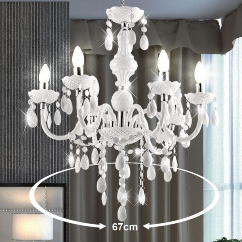 Pendel Hänge Leuchte weiss Kron Leuchter Esszimmer DMxHöhe 420x495 mm Esstisch