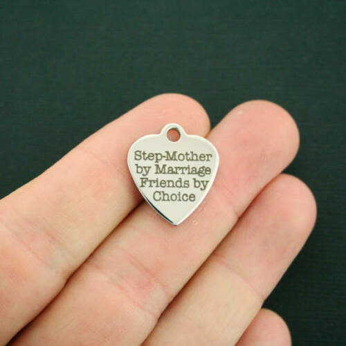 Stepmother Stainless Steel Charm BFS2480 by Marriage Friends by Choice