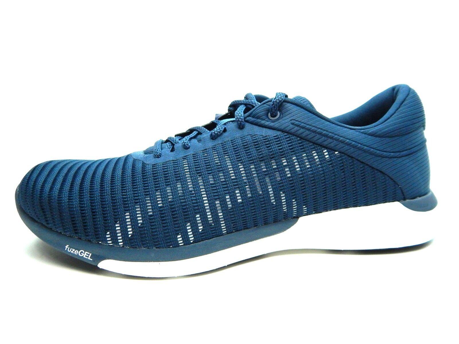 Asics Fuzex Rush Adapt dark Bleu Blanc running hommes chaussures T835N-4901