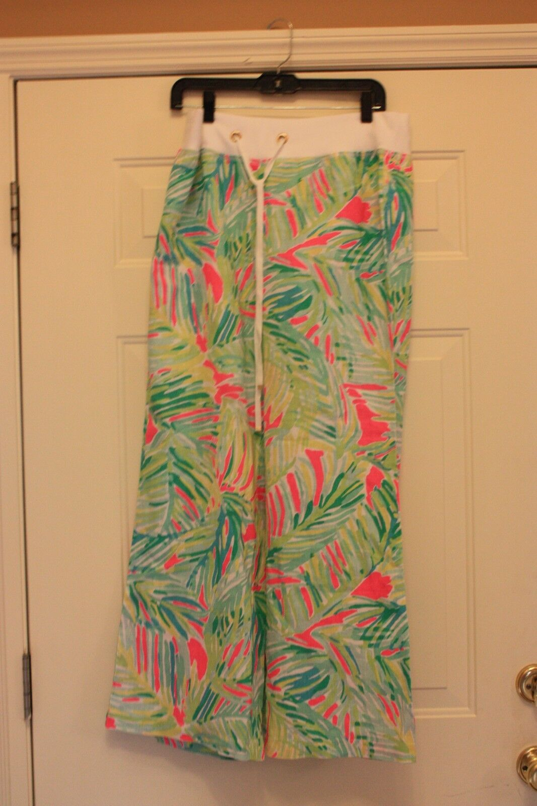 Lilly Pulitzer The Linen Beach Pant Tropical Storm Size Large L