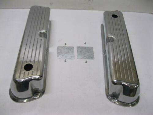 Small Block Ford 302 Tall Ball Mill Polished Aluminum Valve Covers 289 351W 5.0