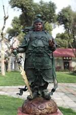 China Pure Bronze Family Keeper war God Veda Wei Tuo Bodhisattva Statue