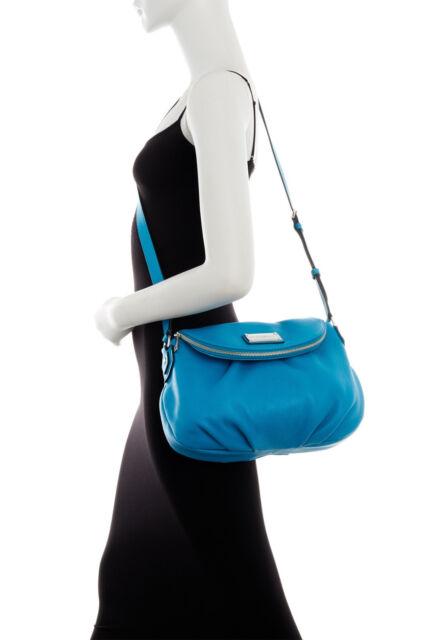 519c Marc Jacobs Natasha Leather Crossbody Bag Turquoise