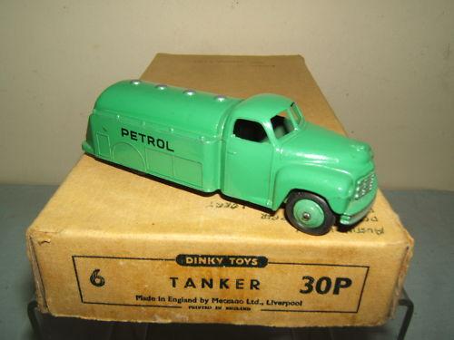 Vintage Dinky Toys No.30p Tanque de Gasolina Caja De Comercio