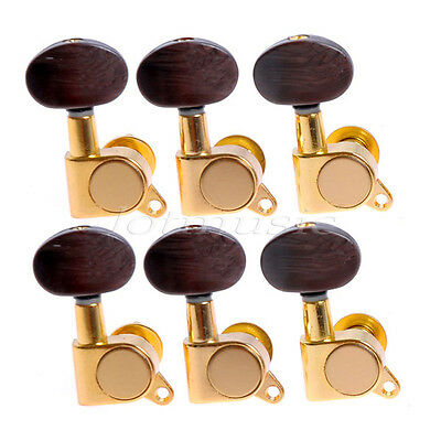 6r acoustic guitar peg machine heads tuning pegs tuners gold brown buttons keys 634458304009 ebay. Black Bedroom Furniture Sets. Home Design Ideas