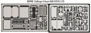 Eduard 1/35 Británico Challenger 2 Desierto Grabado para Tamiya Kits #35743