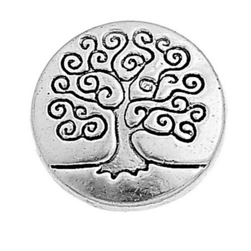 Wholesale 50-5000 Lots Silver Tone Metal Buttons Life Tree Sewing 14.5mm GW