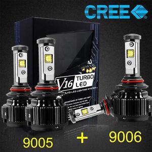 Details about CREE 9005+9006 LED Headlight Bulbs Conversion Kit 120W  14400LM 6000K Hi/Lo Lamp