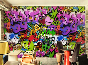 3D Graffiti Letter Design 78 Paper Wall Print Wall Decal Wall Deco Indoor Murals