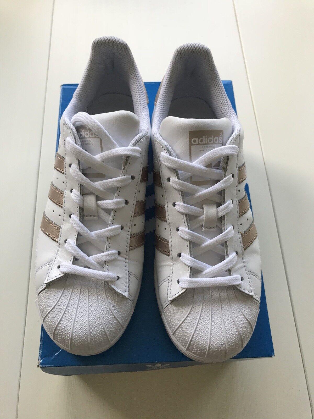 Adidas schuhe, metallic weiße frauen / kupfer - metallic schuhe, - größe 6 4a0db9