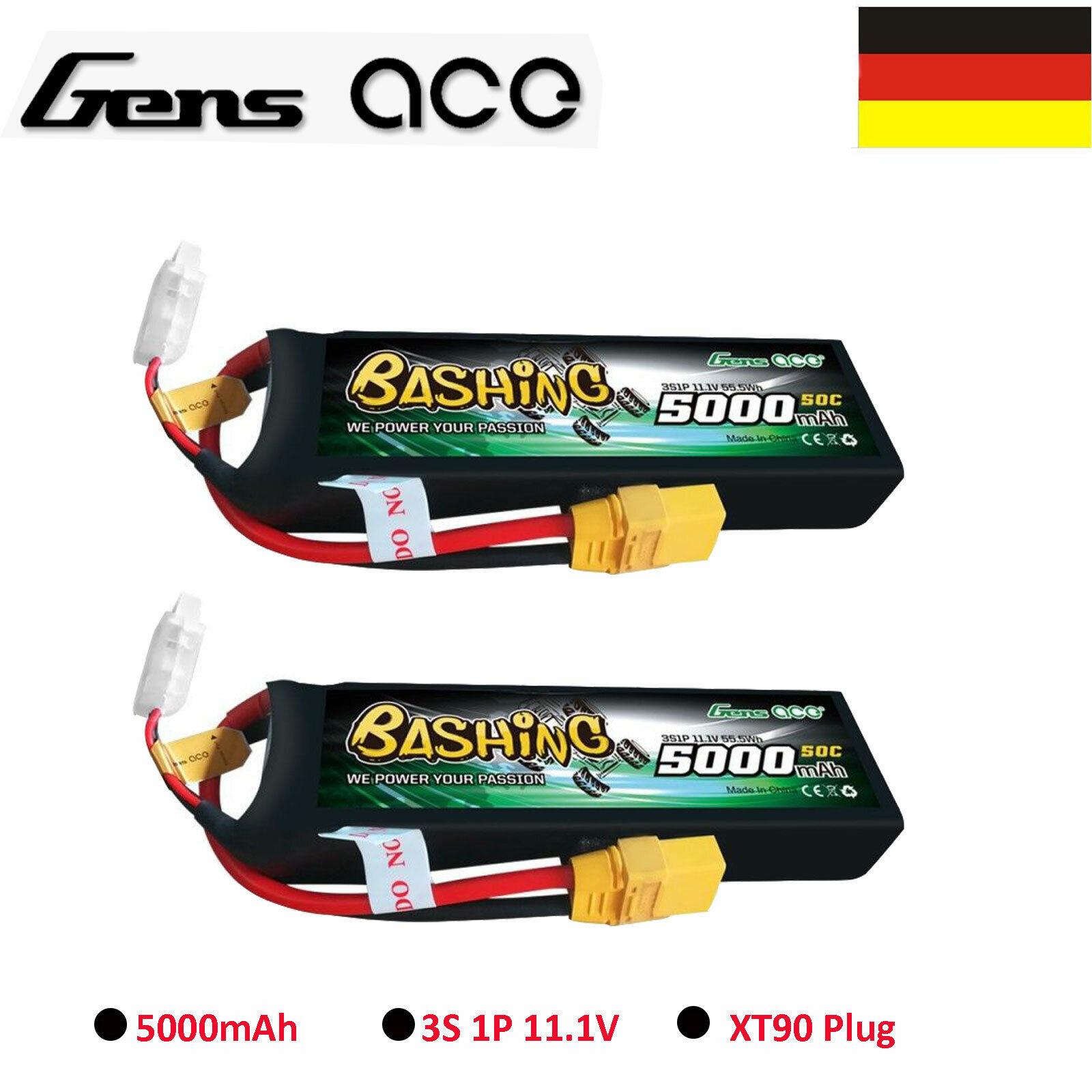 2X 5000mAh 11.1V 50C 3S Lipo Batteria XT90 Spina Per 1 8 1 10 Camion Auto Arrma