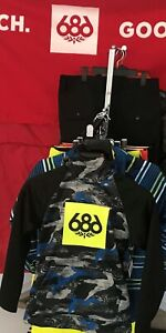 2020-NWT-686-Boys-Bonded-Pullover-Youth-Kids-M-Medium-Snowboard-Hoody-Hoodie-a45