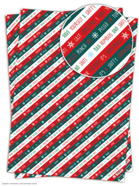 Brainbox candy christmas xmas wrapping paper gift wrap 2 sheets brainbox candy christmas xmas wrapping paper gift wrap 2 sheets funny rude joke ebay negle Gallery