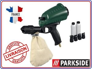 Détails Sur Parkside Pistolet De Sablage à Air Comprimé Sableuse Décapeur Sable Pneumatique