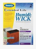 2pk Best Air Esw-c Humidiwick Humidifier Wick Filter Kenmore Emerson Sears