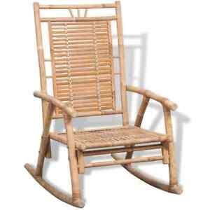 Chaise à Bascule en Bambou Décoration Maison