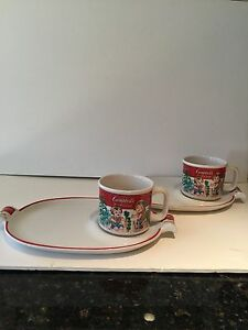 Image is loading C&bell-039-s-4-Piece-Soup-Mug-and- & Campbell\u0027s 4-Piece Soup Mug and Sandwich Plate Set by Westwood | eBay