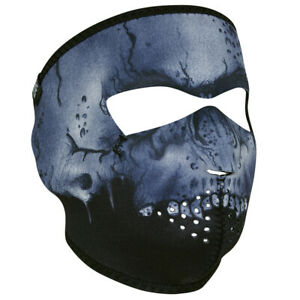 Midnight Skull Wnfm417 Motorcycle Biker Ski Neoprene Full Face Mask Reversible Ebay