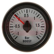 NEW 1 X 52mm 24 VOLT WHITE FACE BOOST GAUGE -1 TO +2 BAR  COMMERCIAL  MTR1000W24