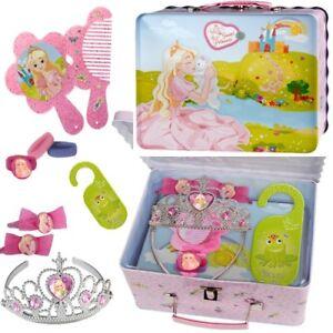 11 Sweet Princess Mädchen Accessoires Blechdose-Koffer für Prinzessinnen 10 tlg