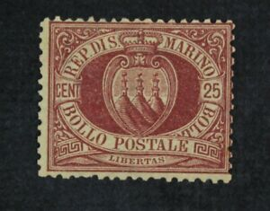 CKStamps-Italy-Stamps-Collection-San-Marino-Scott-13-Mint-Small-Part-Gum