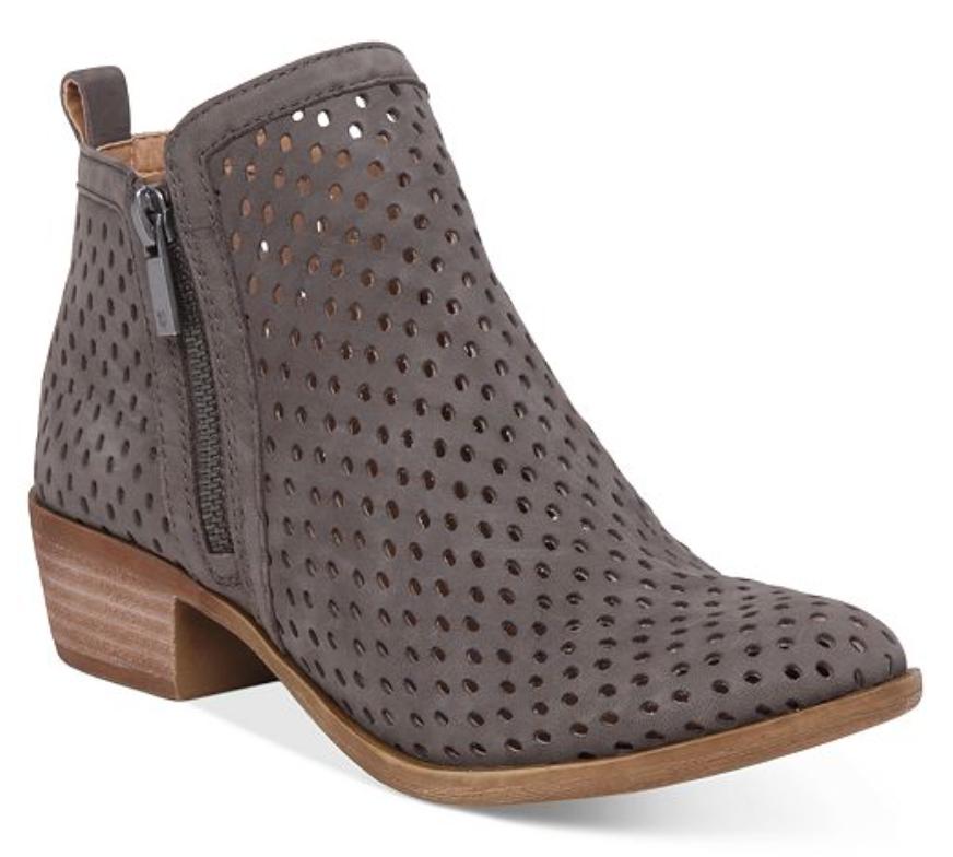 NEW Lucky Brand femmes Leather Ankle démarrageie Dark Stone Barcelo Basel 3 bottes 12