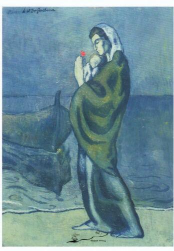 Kunstkarte 1902 Pablo Picasso Mutter und Kind am Meer