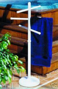 Outdoor Portable Towel Holder Rack Pool Patio Spa Yard