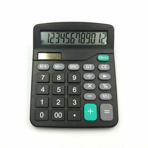 Solar-Battery-Desktop-Calculator-Grundlegendes-12-stelliges-grosses-C1N4-M4J1