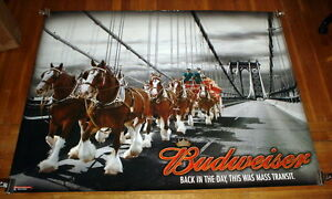 BUDWEISER-CLYDESDALES-CROSSING-BROOKLYN-BRIDGE-5FT-SUBWAY-POSTER
