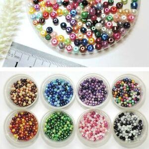 Glaswachs-Perlen-200stk-BUNT-MIX-4mm-FARBWAHL-IMITAT-Glaswachsperlen