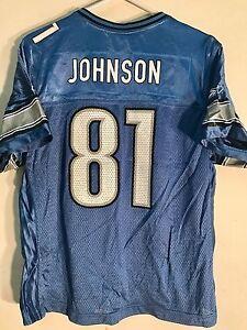 reputable site 1f261 20ef7 Details about Reebok Women's NFL Jersey Detroit Lions Calvin Johnson Light  Blue sz L