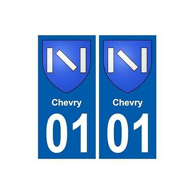 01 Chevry Ville Autocollant Plaque Sticker Droits