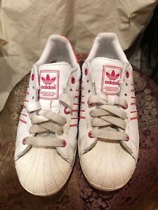 Women Leather Bright White Shell Vintage 2 Superstar Toe Pink Adidas QrxsChtBod