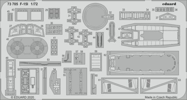 EDUARD 73705 Detail Set for GWH™ Kit F-15I in 1:72