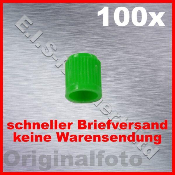 100 X Ventilkappen Grün Reifenventil Kappen - Tire Valve Cap Green Van Het Grootste Gemak