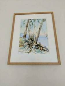 Stunning-framed-Tasmanian-original-Jill-Miller-Watercolour-painting